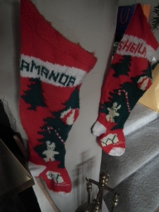 Homemade Christmas stockings