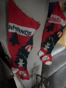 Homemade Christmas stockings