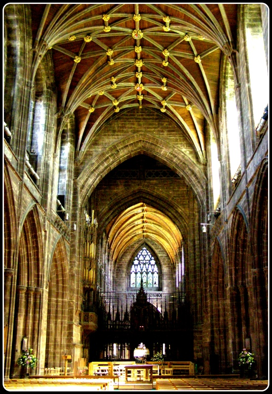 A view down the Nave, Chester Cathedral
