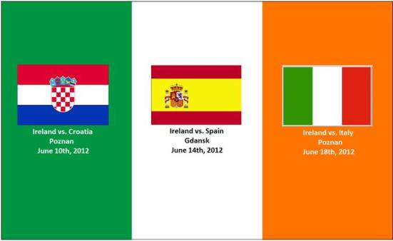 Ireland's Euro 2012 Fixtures