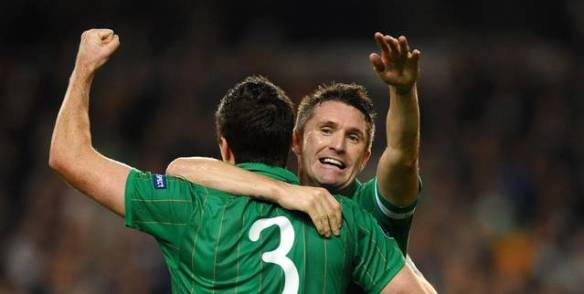 Robbie Keane goal celebration