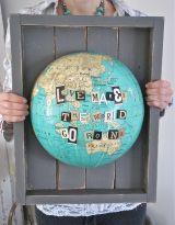 Travel Craft Alert! Patina White's Repurposed GlobeArt