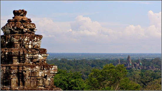View of Angkor Wat from Phnom Bakheng, Cambodia