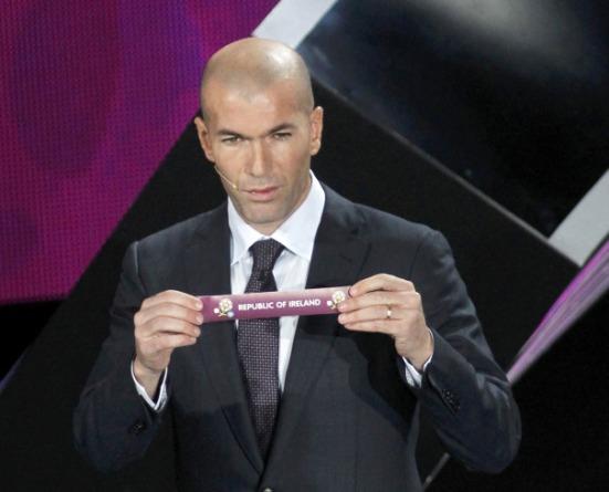 Zidane Euro 2010 draw