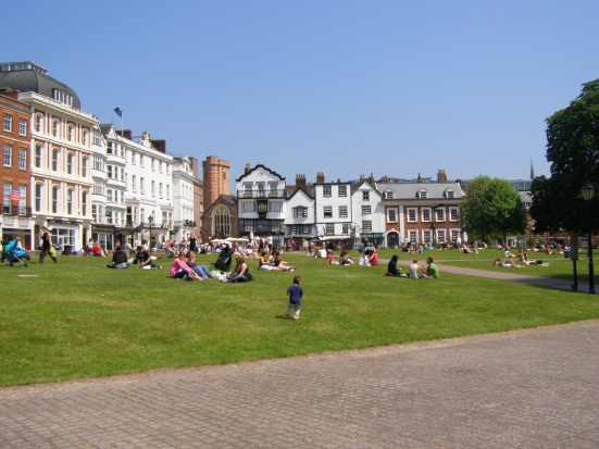 Exeter Cathedral Green