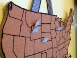 Travel Craft Alert! DIY Cork Travel Map by C.R.A.F.T