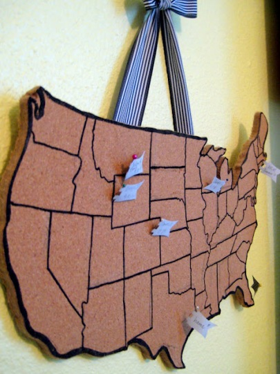 DIY Cork Travel Map by C.R.A.F.T