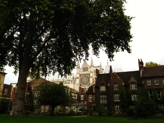 Westminster Abbey from The College Garden, London