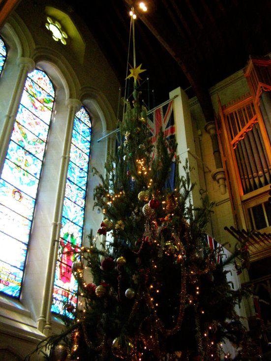 Christchurch Cathedral at Christmas