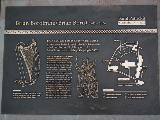 Burial Place of Brian Boru - Armagh, Northern Ireland