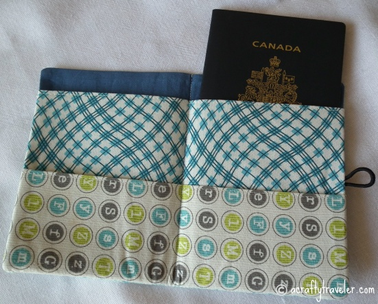 Homemade Fabric Passport Cover