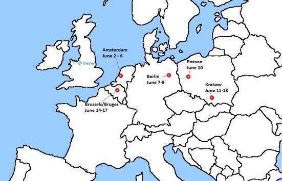 Euro 2012 itinerary