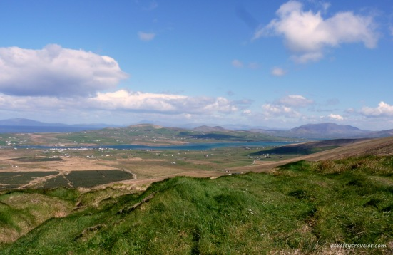 Valentia Island from Coonanaspig Pass-County Kerry, Ireland
