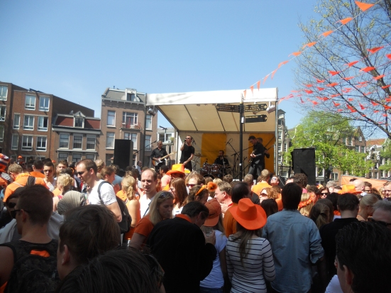 Bands in the street - Queen's Day, Amsterdam