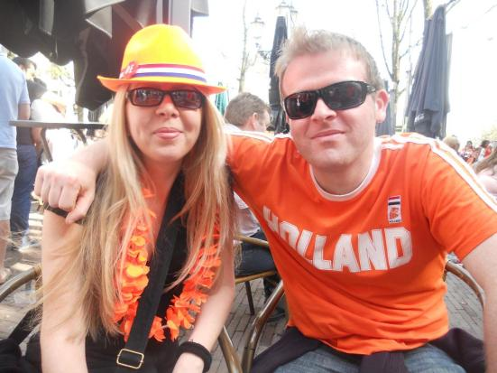 Brother and Sister - Queen's Day, Amsterdam