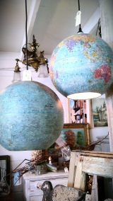 Travel Craft Alert! Repurposed Globe Ceiling Light