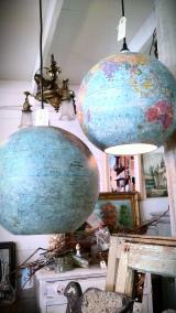 Travel Craft Alert! Repurposed Globe CeilingLight