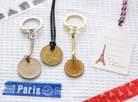 coin keyrings and pendant