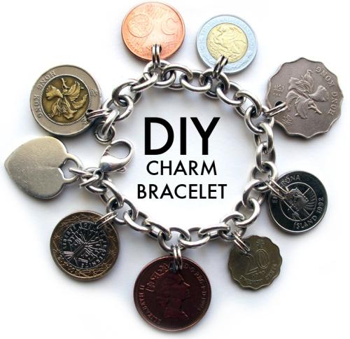 diy coin charm bracelet